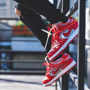 Original Off-White X Nike Dunk Low University Red Sneakers   Shoes for sale in Lagos State, Surulere