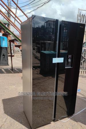 Brand New Hisense Double Door Fridge, With Dispenser, Black | Kitchen Appliances for sale in Lagos State, Ojo