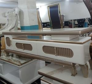 Ajustable Tv Stand With Glass Top   Furniture for sale in Lagos State, Abule Egba