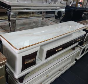Ajustable Tv Stand With Glass Top   Furniture for sale in Lagos State, Victoria Island