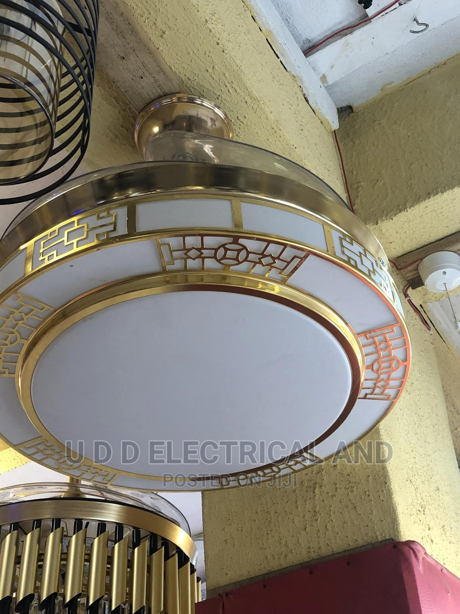 Chandelier With Fan By500   Home Accessories for sale in Ojo, Lagos State, Nigeria