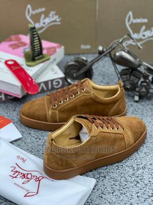 Original Christain Louboutin Red Bottom Leather Sneakers   Shoes for sale in Lagos State, Surulere