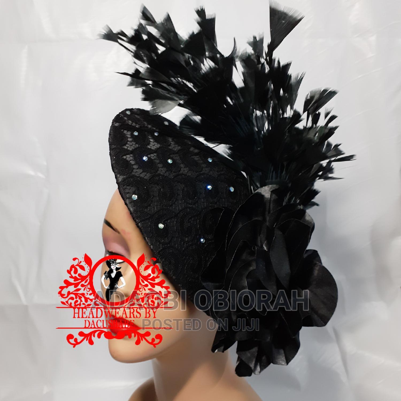 Beautiful Black Fascinator