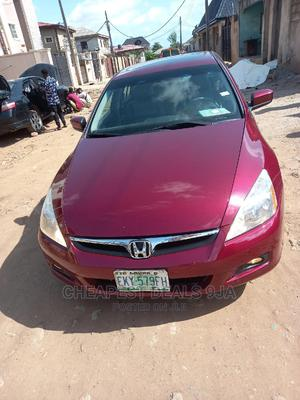 Honda Accord 2005 Sedan EX Automatic Red | Cars for sale in Lagos State, Isolo
