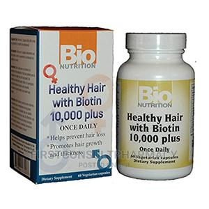 Bio Nutrition Healthy Hair With Biotin 10,000 Plus X 60   Vitamins & Supplements for sale in Lagos State, Surulere