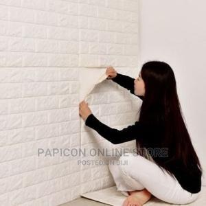 12pcs White Pe Foam 3d Self Adhesive Wallpaper Sticker 77x70   Home Accessories for sale in Lagos State, Lekki