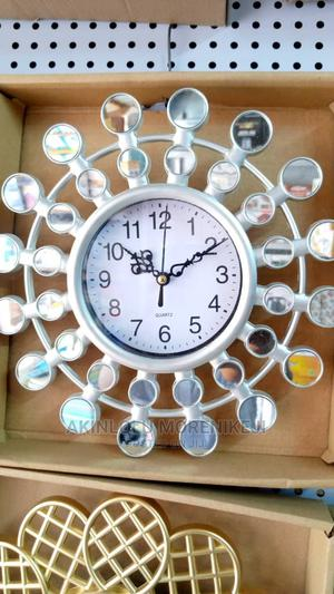 White Fancy Wall Clock | Home Accessories for sale in Lagos State, Ifako-Ijaiye