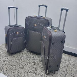 Executive (3 Set) Quality Leather Luggage Bag Available | Bags for sale in Lagos State, Ikeja