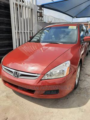 Honda Accord 2007 2.0 Comfort Automatic Red | Cars for sale in Lagos State, Surulere