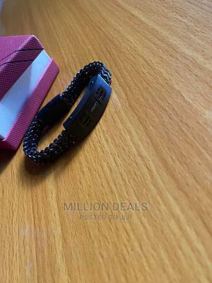 Men's Stainless Steel Black Bracelet | Jewelry for sale in Lagos State, Ikorodu