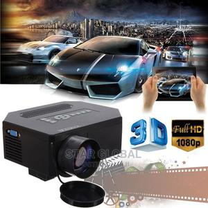 Home Theater Cinema 3D LED Projector 8000 Lumens HDMI TV AV   Accessories & Supplies for Electronics for sale in Lagos State, Lekki