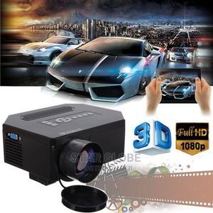1080P LED Projector Full HD 3D 8000 Lumens HDMI VGA TV AV | TV & DVD Equipment for sale in Lagos State, Ajah