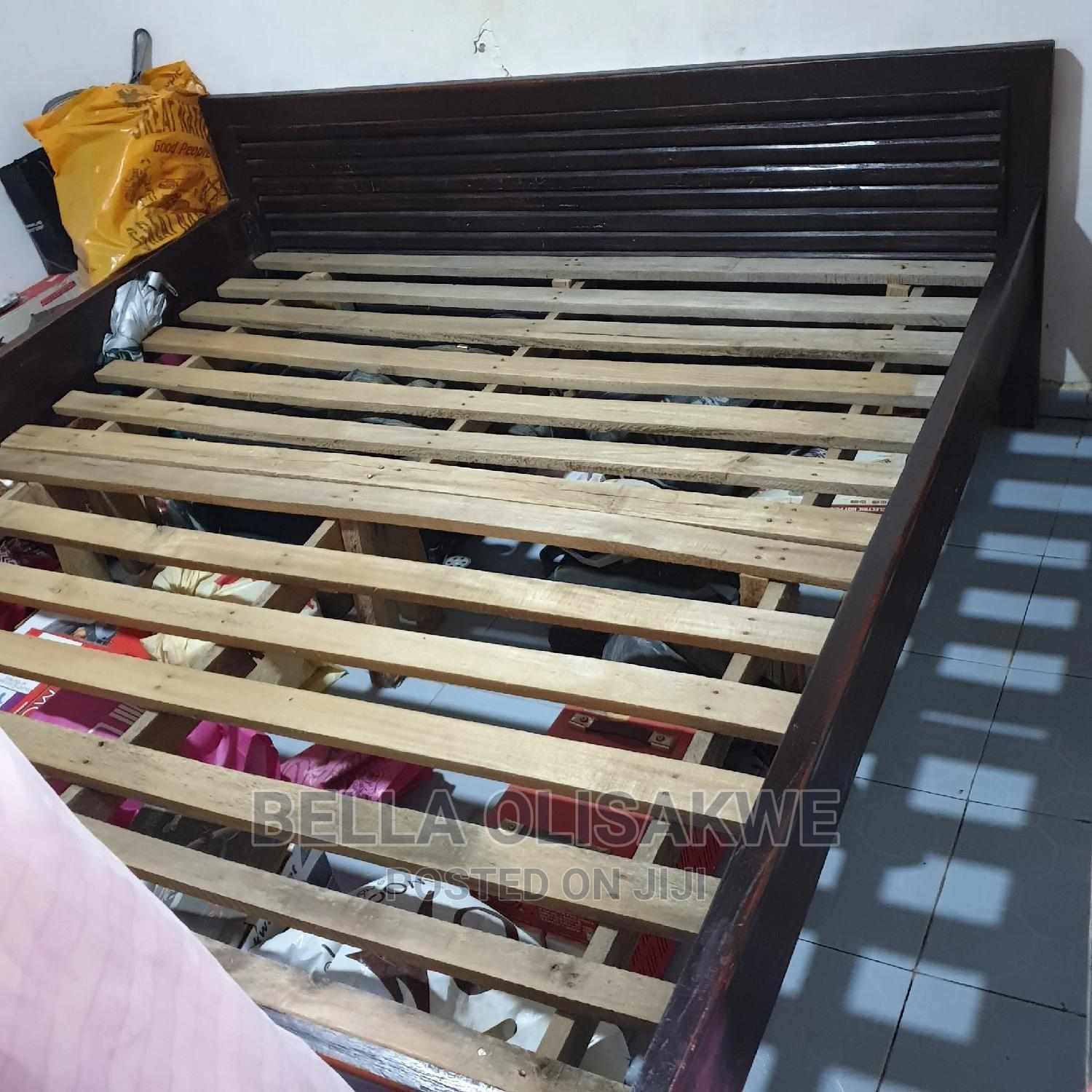 Archive: 6 by 6 Barely Used Still in Nylon Bed and Bed Frame