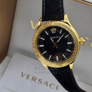 Versace Suede Leather Ladies Watch   Watches for sale in Lagos State, Ikoyi