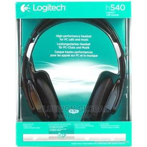Logitech H540 USB Headset With Noise-cancelling Mic Logitech | Headphones for sale in Lagos State, Ikeja