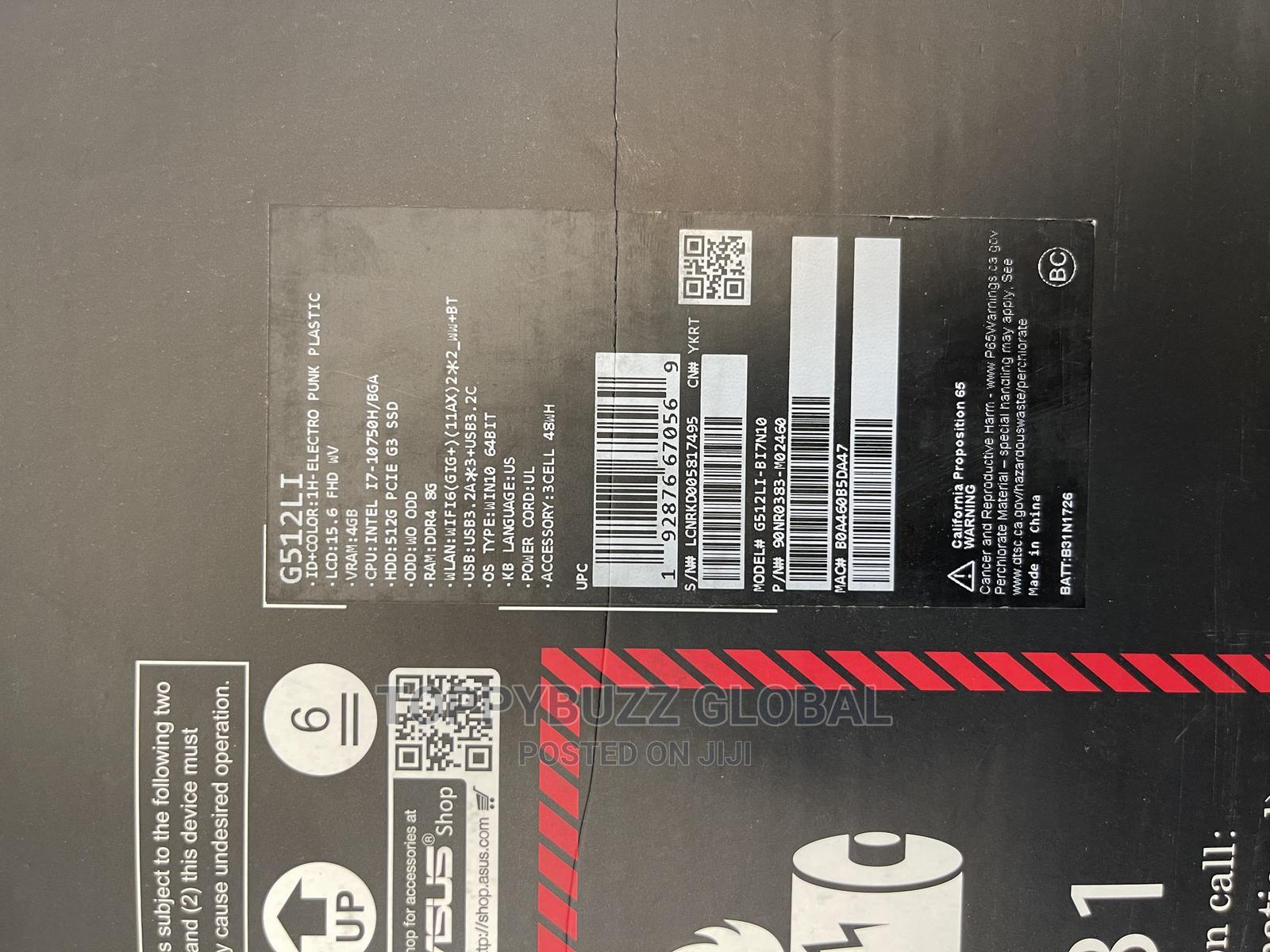 Archive: New Laptop Asus ROG Strix G15 G512 16GB Intel Core I7 SSD 512GB