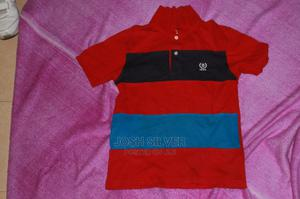Izod Red and Blue Polo T-Shirt for 13-14 | Children's Clothing for sale in Lagos State, Alimosho