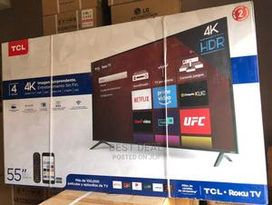 """TCL 4-Series 55""""Inch Hdr 4K Uhd Smart LED Tv-(Bluetooth)   TV & DVD Equipment for sale in Lagos State, Ojo"""