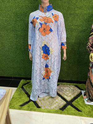 Lace Ankara Patches Kaftan | Clothing for sale in Lagos State, Ajah