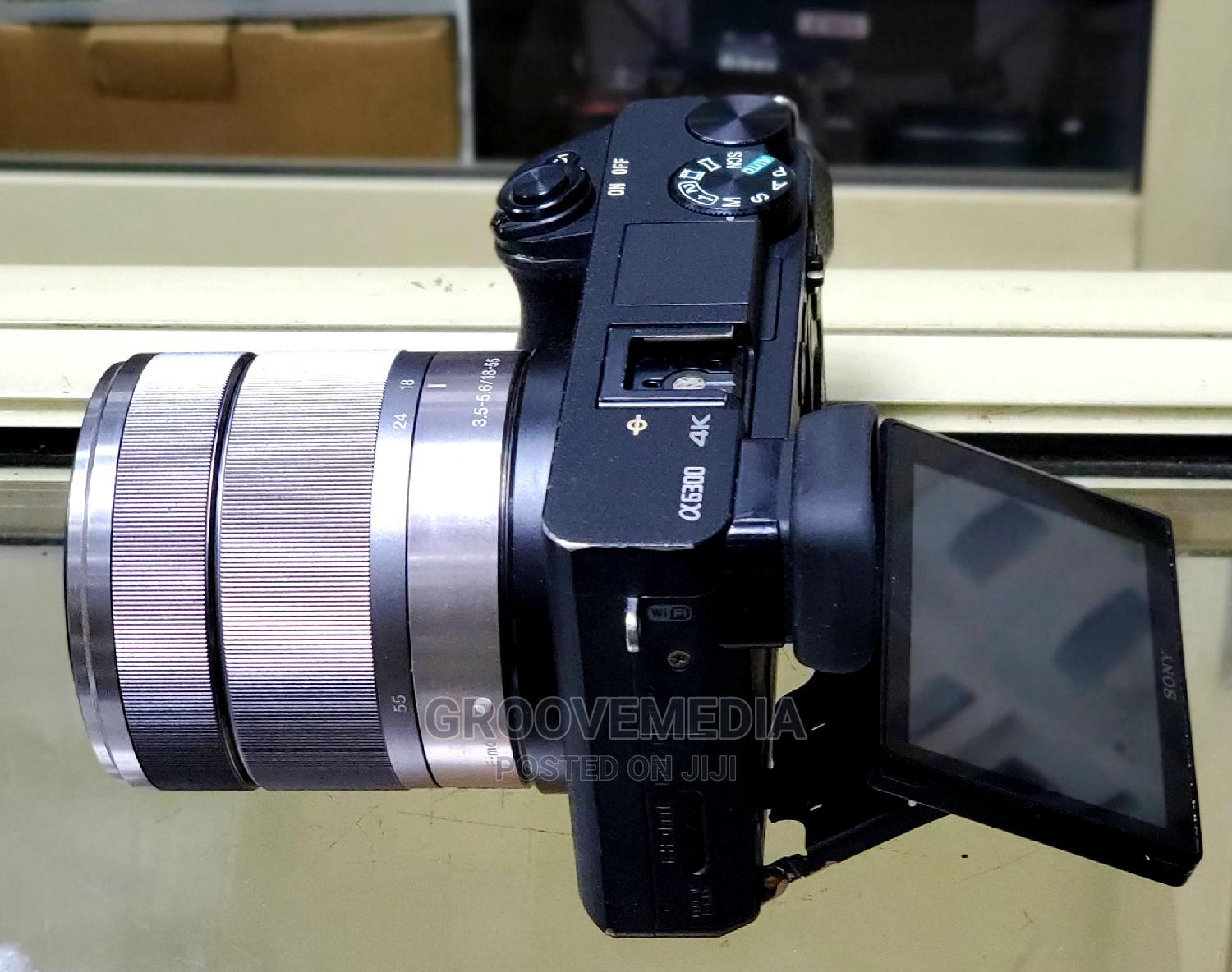 Sony Alpha A6300 With 18-55mm Lens | Photo & Video Cameras for sale in Ikeja, Lagos State, Nigeria