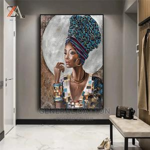 African Black Woman Graffiti Art Canvas Painting Art | Arts & Crafts for sale in Lagos State, Victoria Island