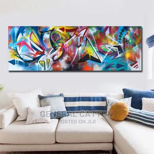 Abstract Colors Canvas Poster Blue and Wall Art Painting | Arts & Crafts for sale in Lagos State, Victoria Island