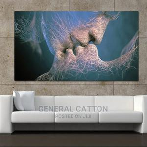 SELFLESSLY Abstract Art Love Kiss Canvas Painting | Arts & Crafts for sale in Lagos State, Victoria Island