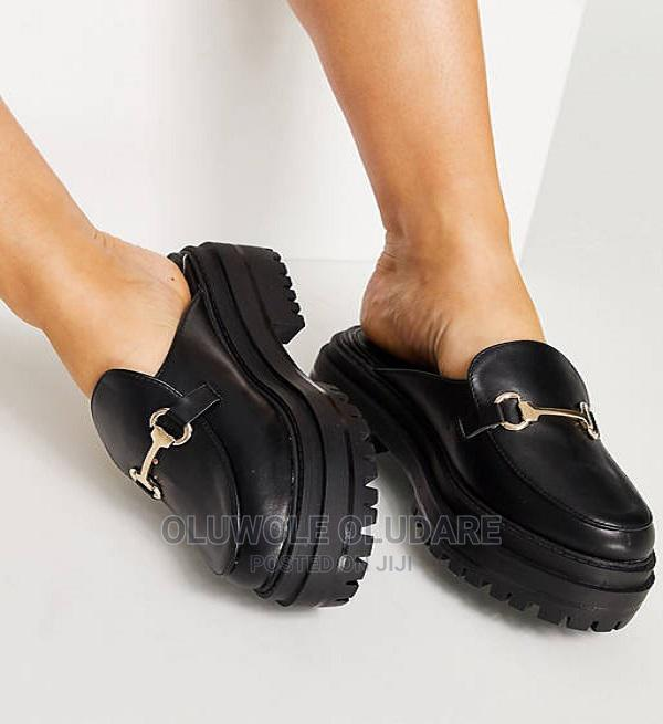 Archive: Raid Sadie Chunky Backless Loafers in Black