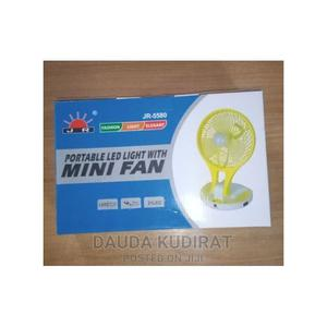 Rechargeable Portable Table Top Mini Fan With Led Light | Home Appliances for sale in Lagos State, Lagos Island (Eko)