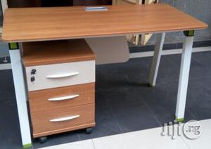 Modern Office Table 1.4 With Metal Legs and Mobile Drawer | Furniture for sale in Lagos State, Victoria Island