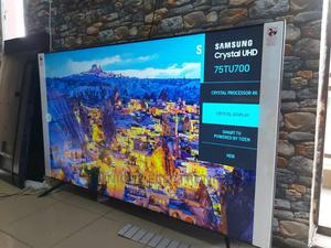 Samsung 75 Inch TU7000 4K Crystal UHD Ultra Slim Smart TV | TV & DVD Equipment for sale in Lagos State, Ajah