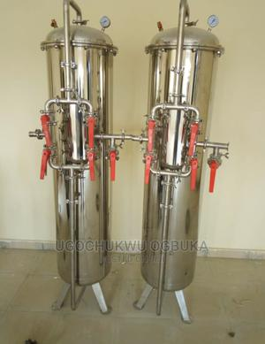 Stainless Hard Water Treatment Water Purification Media Tank | Manufacturing Equipment for sale in Lagos State, Amuwo-Odofin