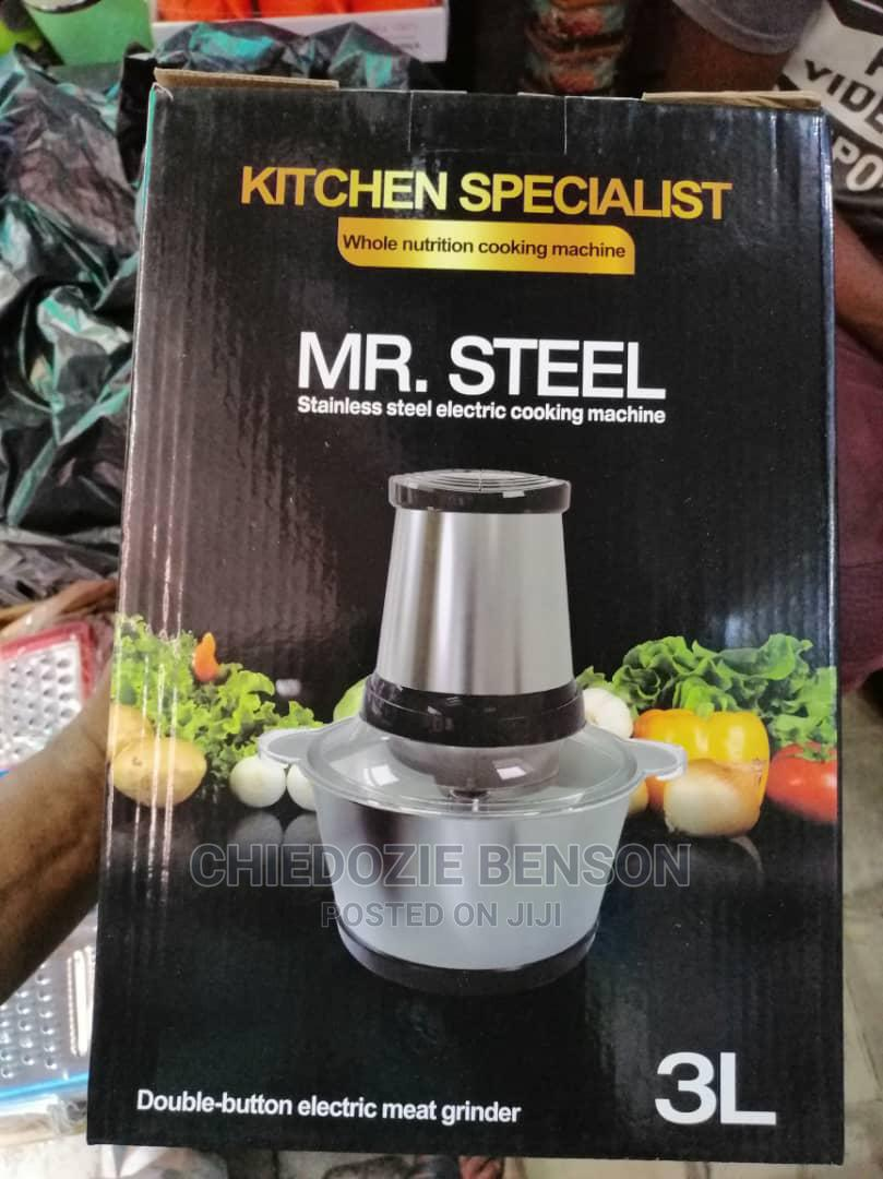 Mr Steel Electric Food Processor - Yam Pounder 3 Litres