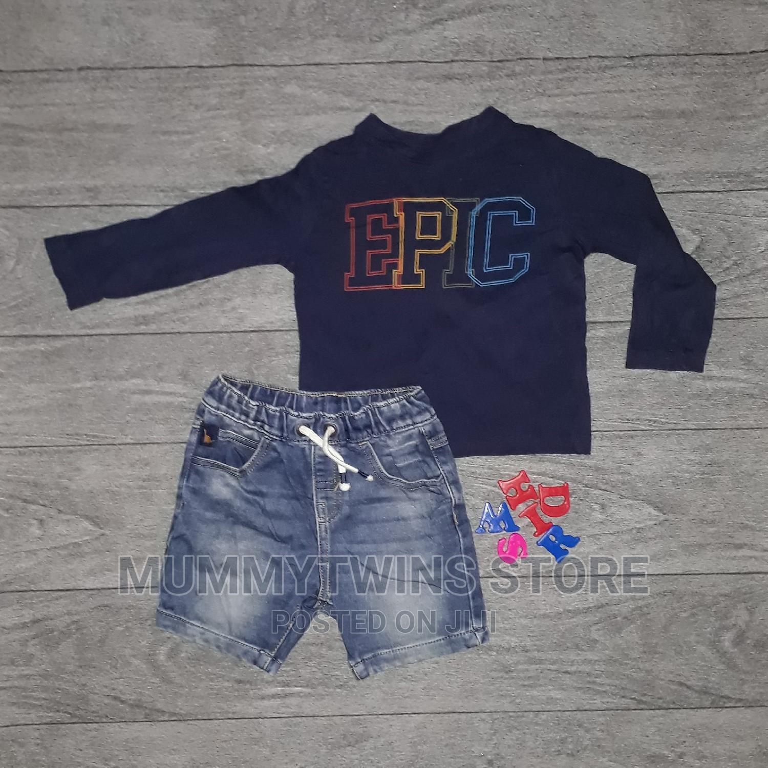 Boys Top and Jeans Shorts