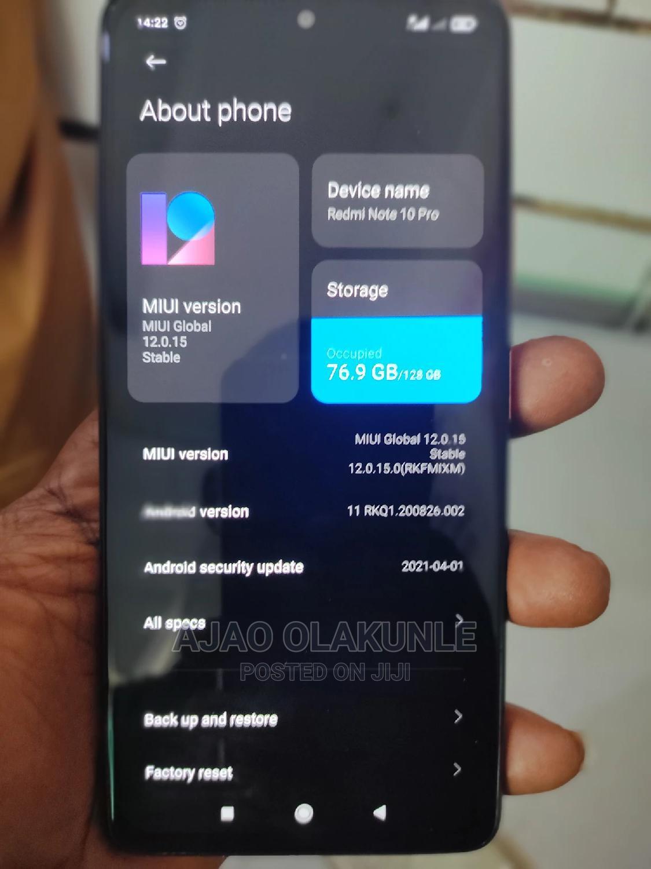 Xiaomi Redmi Note 10 Pro 128 GB Gold   Mobile Phones for sale in Apapa, Lagos State, Nigeria