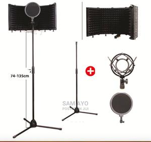 Vocal Booth/5 Door Sound Insulation + Pop Filter + Stand + M   Accessories & Supplies for Electronics for sale in Lagos State, Ojodu