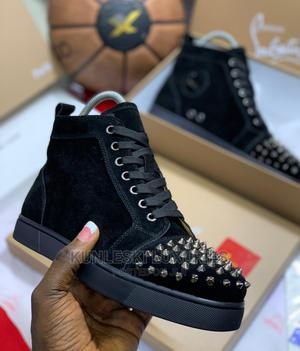 Original Christain Louboutin Red Bottom Hightop Sneakers   Shoes for sale in Lagos State, Surulere