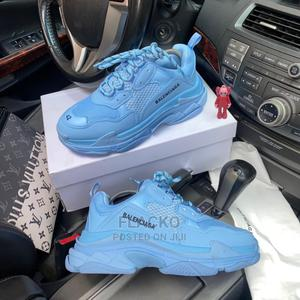 Original Balenciaga Sky Blue Tripple Sole Sneakers Available | Shoes for sale in Lagos State, Surulere