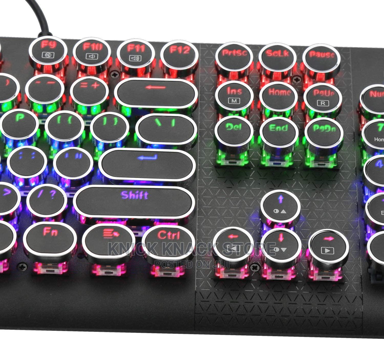 104 Keys Retro Gaming Mechanical Keyboard | Computer Accessories  for sale in Ojodu, Lagos State, Nigeria