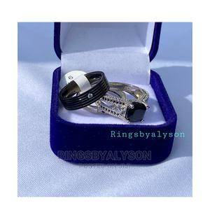 Black And Silver Couples Wedding Ring Sets | Wedding Wear & Accessories for sale in Lagos State, Maryland