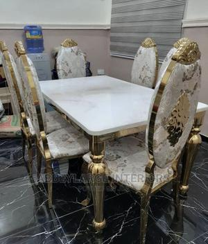 Marble Dinning by Six Seater | Furniture for sale in Lagos State, Ajah