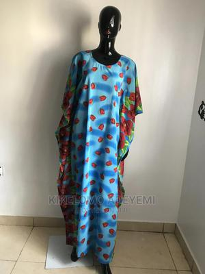 Blue Multi Colored Chiffon Kaftan Dress Long Length   Clothing for sale in Lagos State, Ajah