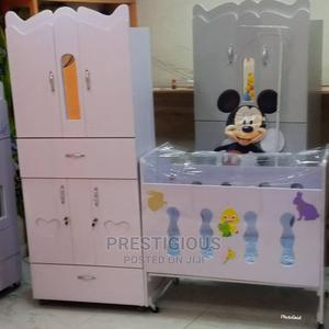 White Baby Wardrobe Bed | Children's Furniture for sale in Lagos State, Victoria Island
