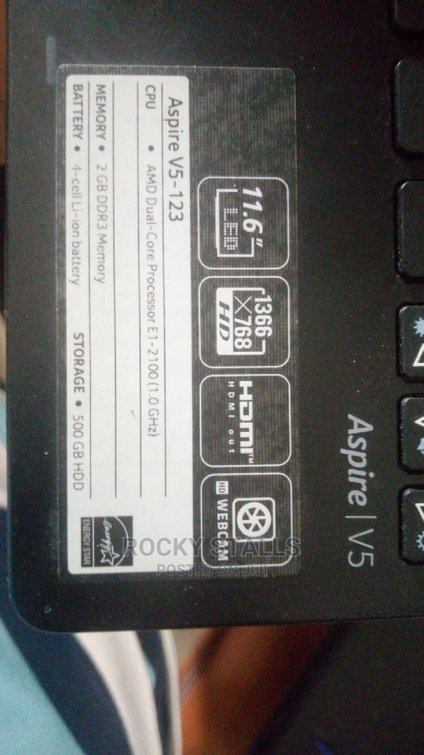 Laptop Acer Aspire V5-123 2GB AMD HDD 500GB | Laptops & Computers for sale in Apapa, Lagos State, Nigeria