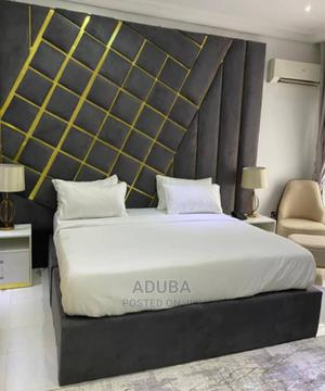 Quality Bed Fram With Gold Color   Furniture for sale in Lagos State, Ikeja