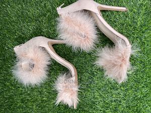 TOPSHOP Pink Fur Heel Sandals | Shoes for sale in Lagos State, Lekki