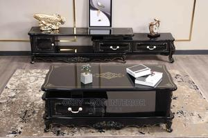 Quality Wooden With Glass Top TV Stand and Center Table   Furniture for sale in Lagos State, Lagos Island (Eko)
