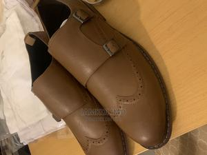 ASOS Design Brown Faux Leather With Double Strap | Shoes for sale in Abuja (FCT) State, Wuse