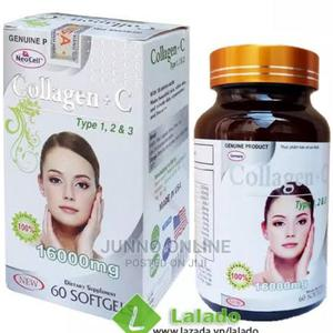 Original Collagen + C Type 1, 2 3 16000mg 60 Capsules   Vitamins & Supplements for sale in Lagos State, Ikoyi