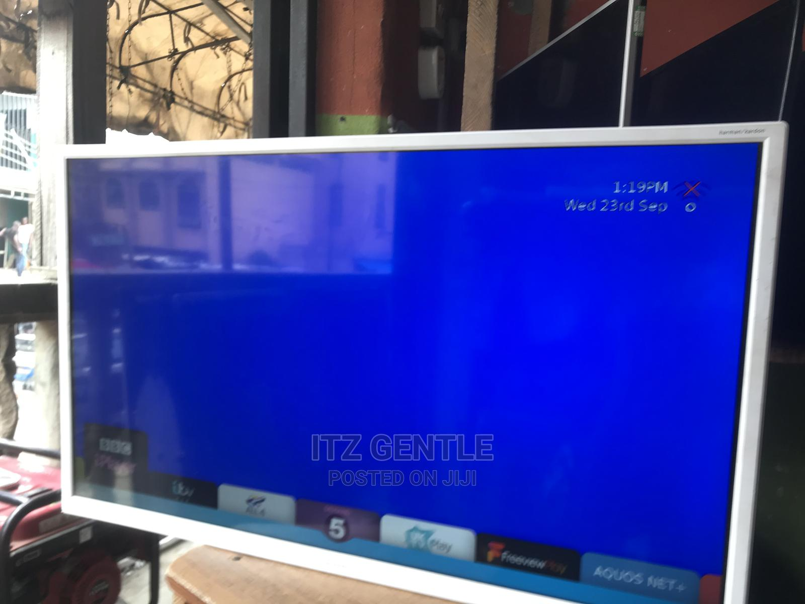 """32"""" Sharp White Full Smart Tv With Mirrocast, Netflix   TV & DVD Equipment for sale in Ojo, Lagos State, Nigeria"""